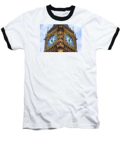 Elizabeth Tower Clock Baseball T-Shirt by Tim Stanley