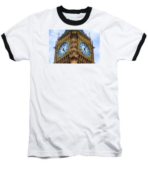 Elizabeth Tower Clock Baseball T-Shirt