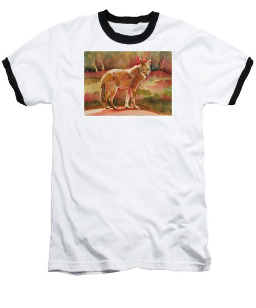 Elusive Visitor Baseball T-Shirt by Pattie Wall