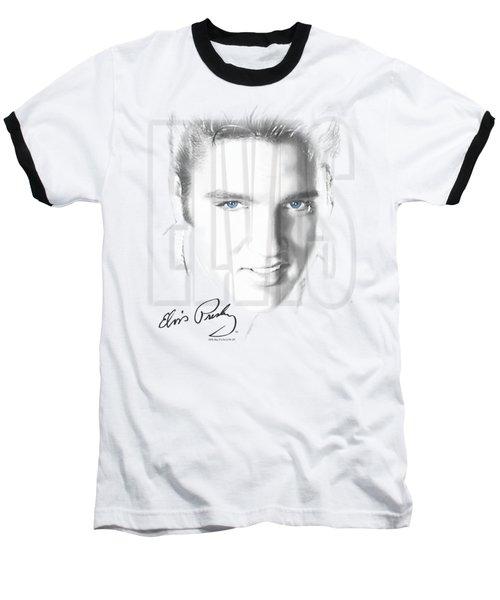 Elvis - Blue Eyes Baseball T-Shirt