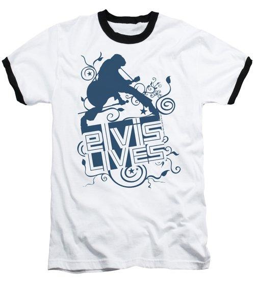 Elvis - Elvis Lives Baseball T-Shirt