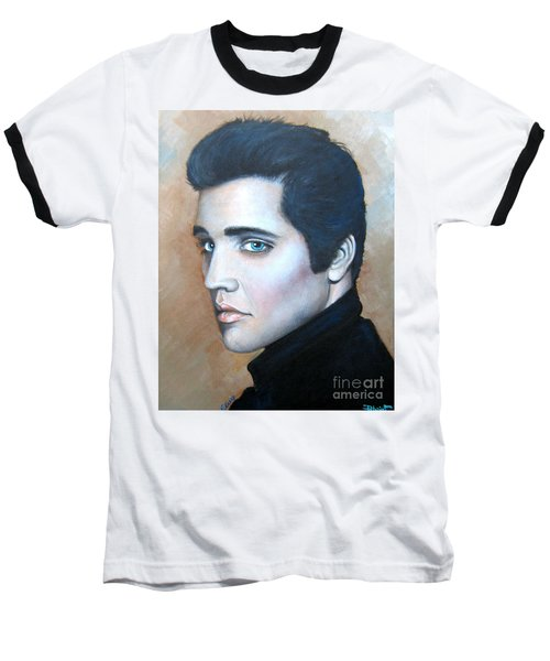Baseball T-Shirt featuring the painting Elvis by Patrice Torrillo