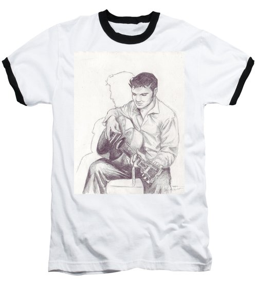 Elvis Sketch Baseball T-Shirt