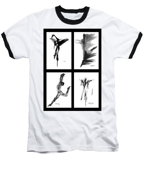 Emotions In Black - Abstract Quad Baseball T-Shirt