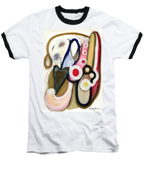 Baseball T-Shirt featuring the painting Emotions by Stephen Lucas