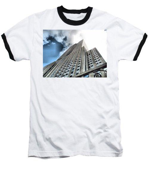 Empire State Building - Vertigo In Reverse Baseball T-Shirt
