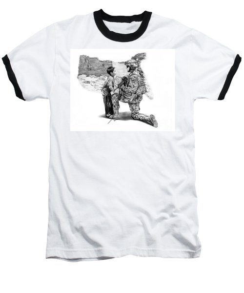 Baseball T-Shirt featuring the drawing Empty Pockets  by Peter Piatt
