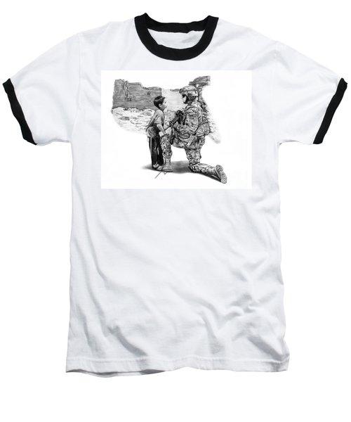 Empty Pockets  Baseball T-Shirt by Peter Piatt