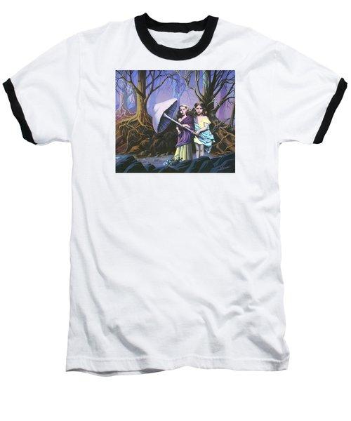 Enchanted Forest Baseball T-Shirt by Vivien Rhyan