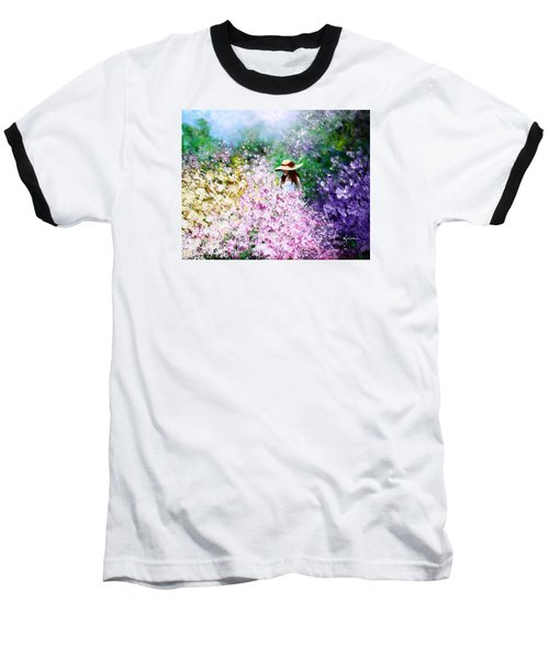 Baseball T-Shirt featuring the painting End Of May by Kume Bryant