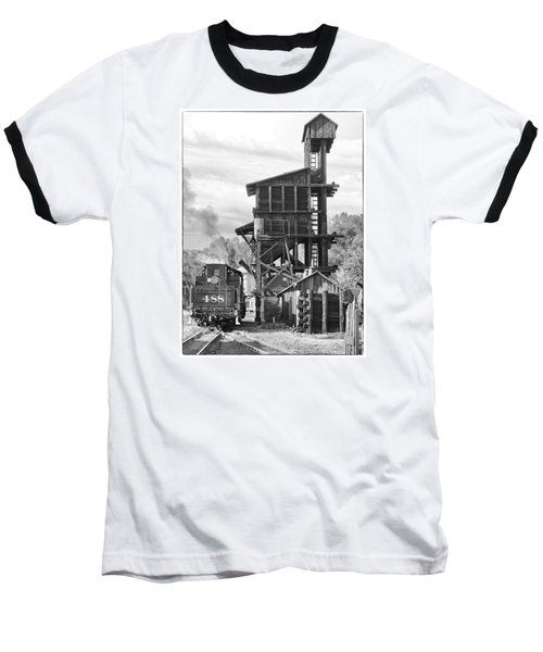 Engine 488 At The Tipple Baseball T-Shirt by Shelly Gunderson