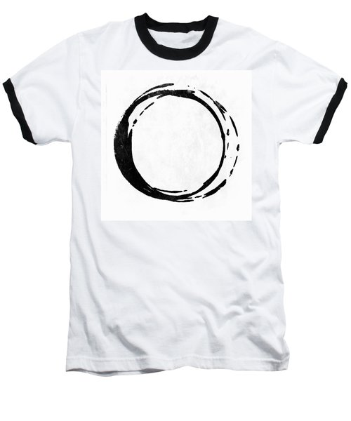 Enso No. 107 Black On White Baseball T-Shirt