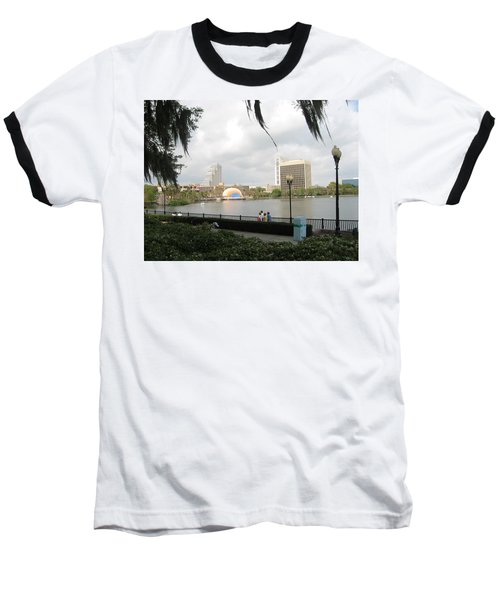 Baseball T-Shirt featuring the photograph Eola Park In Orlando by Judith Morris