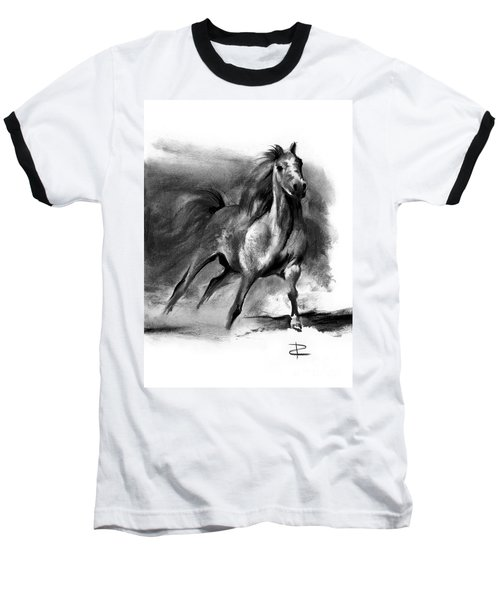 Baseball T-Shirt featuring the drawing Equine II by Paul Davenport