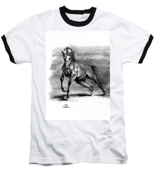 Baseball T-Shirt featuring the drawing Equine IIi by Paul Davenport