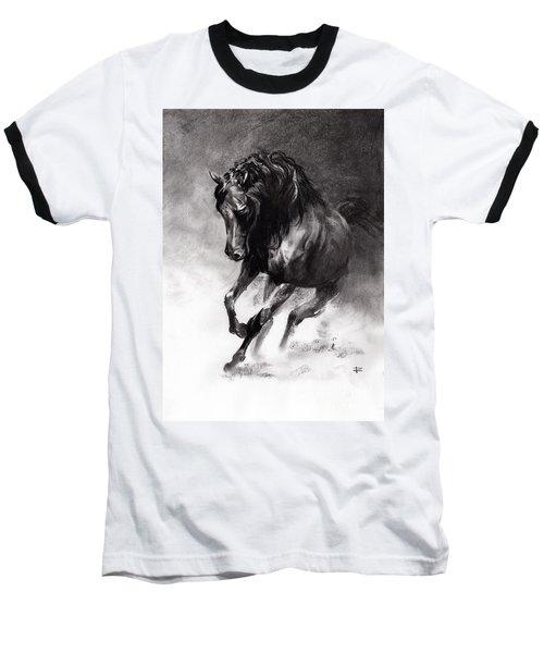 Equine Baseball T-Shirt by Paul Davenport