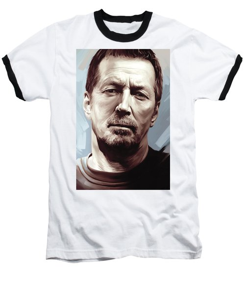 Eric Clapton Artwork Baseball T-Shirt