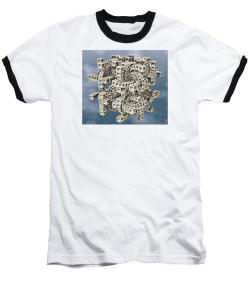 Baseball T-Shirt featuring the digital art Escher's Construct by Manny Lorenzo