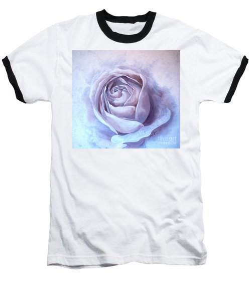 Baseball T-Shirt featuring the painting Ethereal Rose by Sandra Phryce-Jones