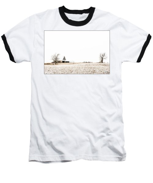 Ethereal Wintry Scene Baseball T-Shirt