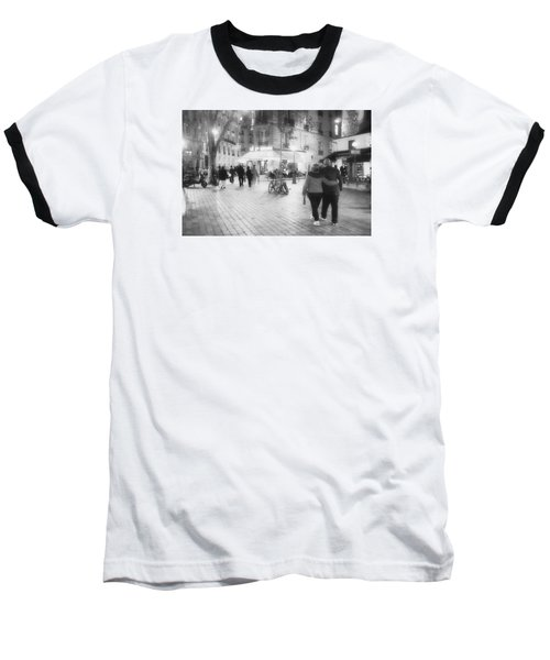 Evening Stroll In Paris Baseball T-Shirt by Hugh Smith