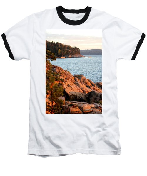 Evening Sun By The Waterfront Baseball T-Shirt