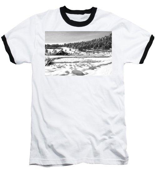 Evergreen Lake House In Winter Baseball T-Shirt