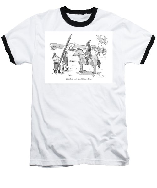 Excellent - Let's Run It Through Legal Baseball T-Shirt