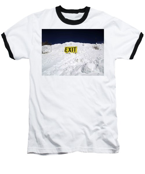 Baseball T-Shirt featuring the photograph Exit by Fiona Kennard