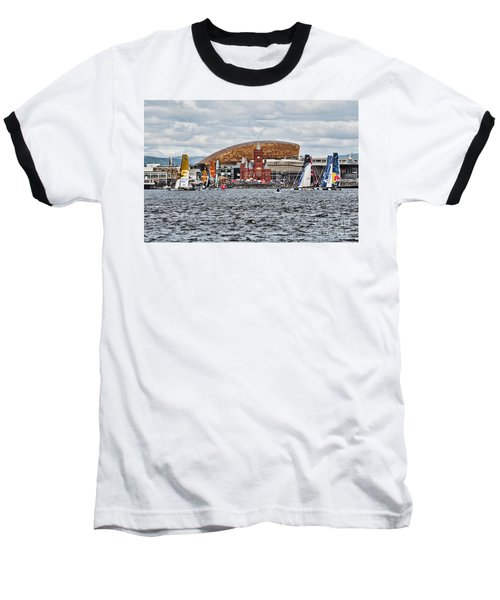 Extreme 40 At Cardiff Bay Baseball T-Shirt by Steve Purnell