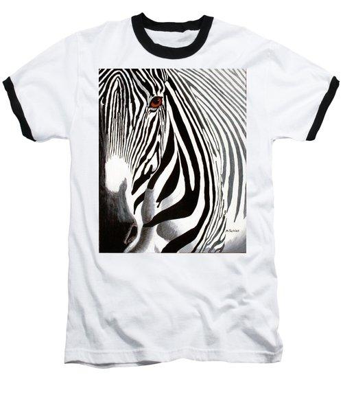 Eye Of The Zebra Baseball T-Shirt