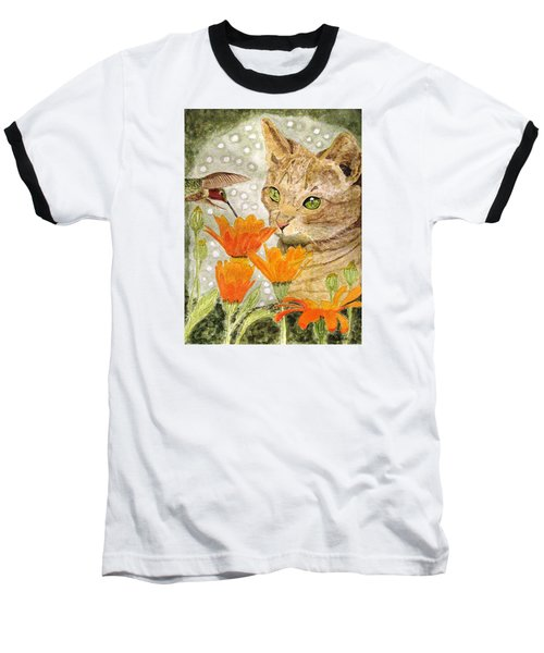 Baseball T-Shirt featuring the painting Eye To Eye by Angela Davies