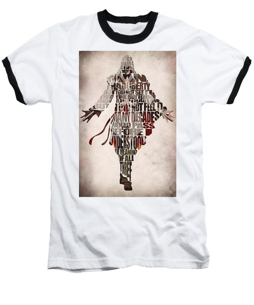 Ezio Auditore Da Firenze From Assassin's Creed 2  Baseball T-Shirt by Ayse Deniz