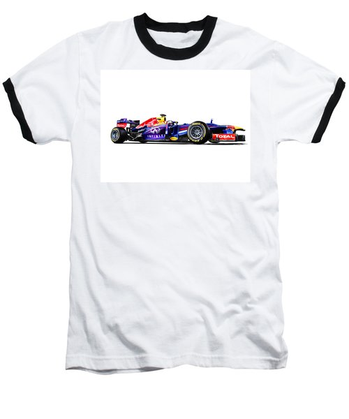 Baseball T-Shirt featuring the photograph F1 Red Bull Rb9 by Gianfranco Weiss