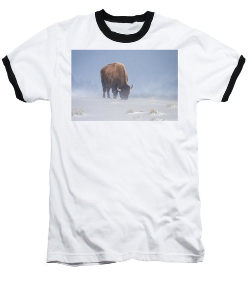 Baseball T-Shirt featuring the photograph Faces The Blizzard by Jack Bell
