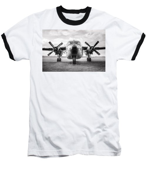 Baseball T-Shirt featuring the photograph Fairchild C-119 Flying Boxcar - Military Transport by Gary Heller