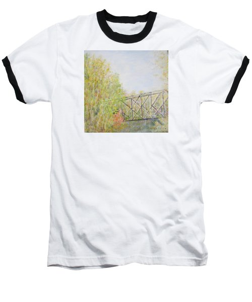 Fall Foliage And Bridge In Nh Baseball T-Shirt