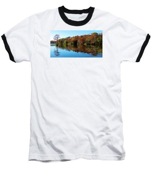 Fall In The Air Baseball T-Shirt by Cynthia Guinn