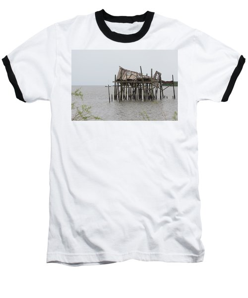Fallen Deckhouse Baseball T-Shirt by Fortunate Findings Shirley Dickerson