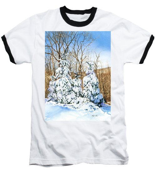 Baseball T-Shirt featuring the painting Family Of Four Trailside At 7 Springs by Barbara Jewell