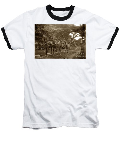 Family Out Carriage Ride On The 17 Mile Drive In Pebble Beach Circa 1895 Baseball T-Shirt