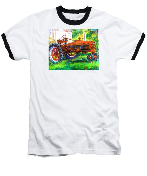Baseball T-Shirt featuring the painting Farmall Tractor by Les Leffingwell