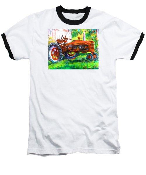 Farmall Tractor Baseball T-Shirt by Les Leffingwell