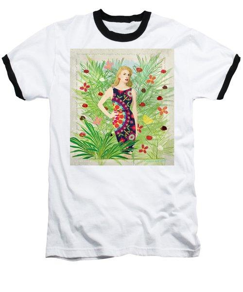 Fashion And Art - Limited Edition 1 Of 10 Baseball T-Shirt by Gabriela Delgado