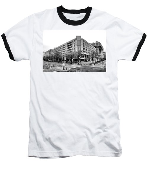 Fbi Building Front View Baseball T-Shirt