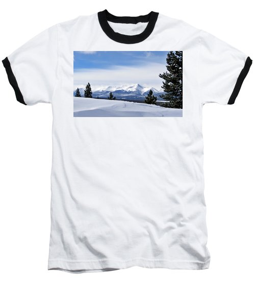 Baseball T-Shirt featuring the photograph February Wind by Jeremy Rhoades