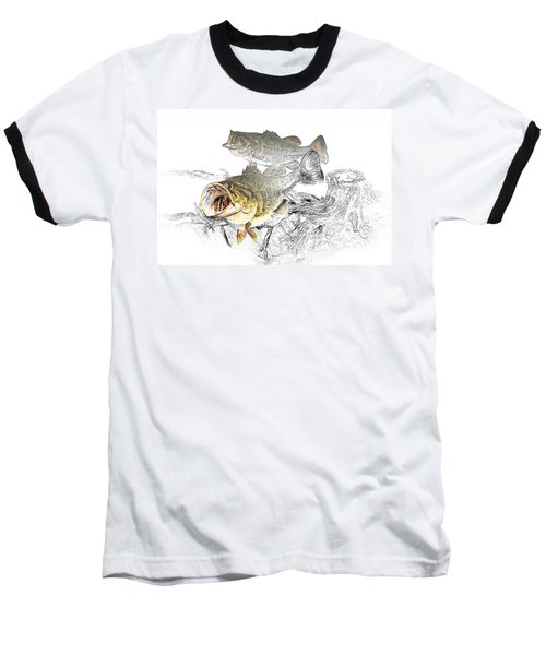 Feeding Largemouth Black Bass Baseball T-Shirt