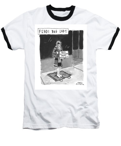 'fendi Bag Lady' Baseball T-Shirt