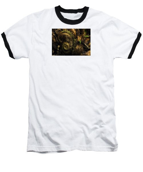 Fern Headdress Baseball T-Shirt by Jean OKeeffe Macro Abundance Art