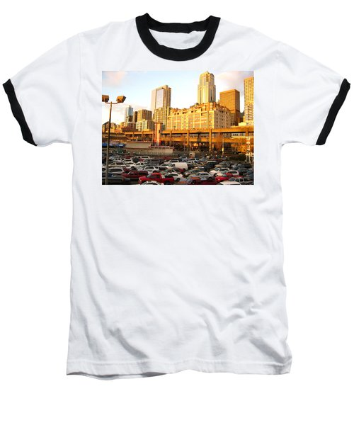 Ferry Lines At Sunset Baseball T-Shirt by David Trotter